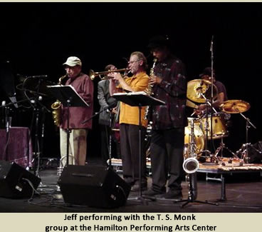 Jeff performing with the T.S. Monk group